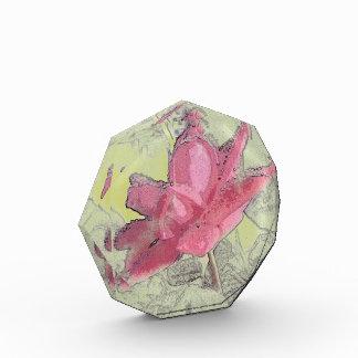 Rose Art Crystal Paper Weight Award