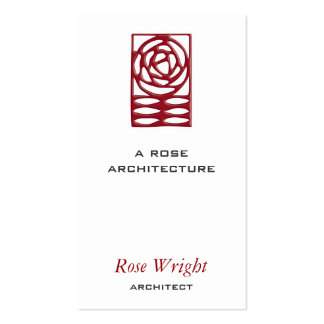 Rose Arts & Crafts Ornament Business Card
