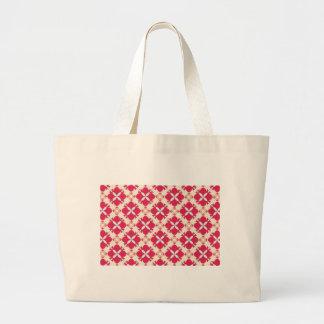 Rose Avunclover Nostalgic Pattern Large Tote Bag