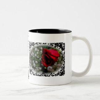 Rose & Baby's Breath Two-Tone Coffee Mug
