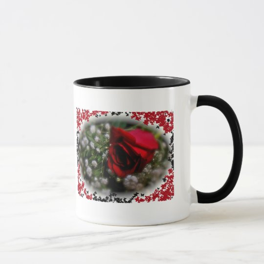 Rose & Baby's Breath Mug Quote by Lao Tzu