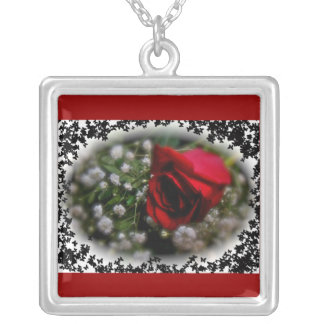Rose & Baby's Breath Necklace