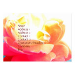 Rose background business card