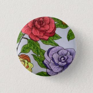 Rose badge pinback button