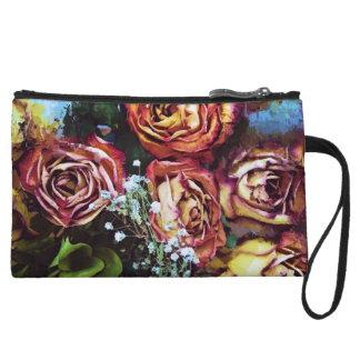 Rose Baguette Wristlet Wallet
