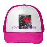 Rose Ball Cap Hat Trucker Hat