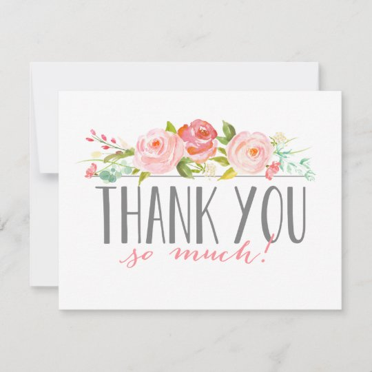 Rose Banner Baby Shower Thank You Card Zazzle Com