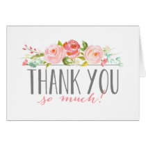 Rose Banner | Baby Shower Thank You Card