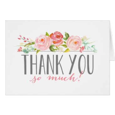 Toddler & Baby themed Rose Banner | Baby Shower Thank You Card