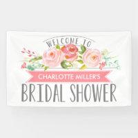 Rose Banner Bridal Shower Banner