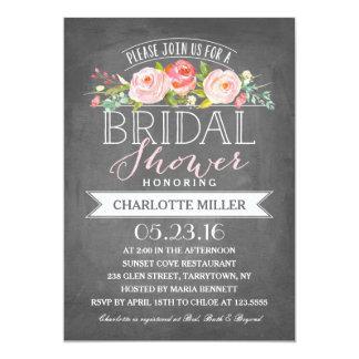 Rose Banner Bridal Shower Invitation