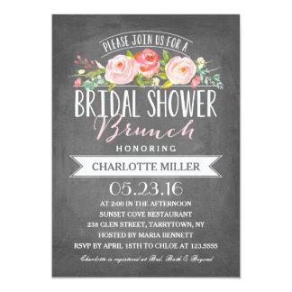 Rose Banner Brunch Bridal Shower Card