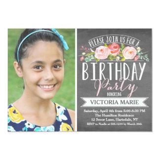 Rose Banner Chalkboard | Birthday Card