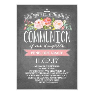 Rose Banner Chalkboard | Communion Invitation