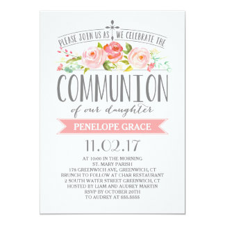 Rose Banner | Communion Invitation