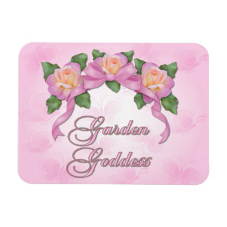 Rose Banner Garden Goddess Rectangular Photo Magnet