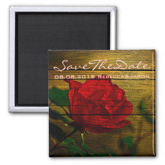 rose barn wood country save the date magnet