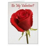 Rose Be My Valentine Card
