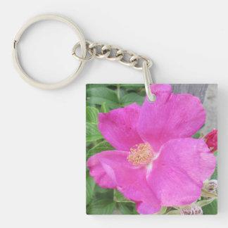 Rose Beach Plum Pink Keychain