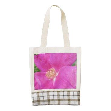 Beach Themed Rose Beach Plum Pink Zazzle HEART Tote Bag