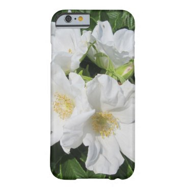 Beach Themed Rose Beach Plum White Barely There iPhone 6 Case