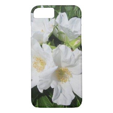 Beach Themed Rose Beach Plum White iPhone 7 Case