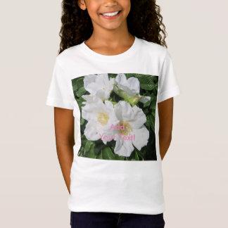 Rose Beach Plum White T-Shirt