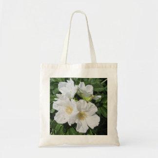 Rose Beach Plum White Tote Bag