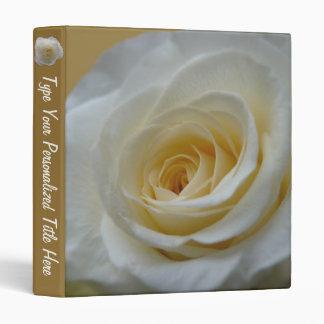 Rose Binder Custom White Rose Photo Album Binder 3 Ring Binder