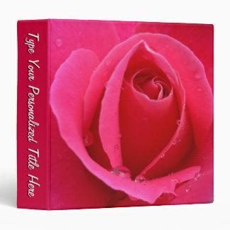 Rose Binder Hot Pink Rose School Binder Vinyl Binders