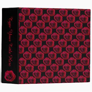Rose Binder Personalized Red Rose Photo Album Binders