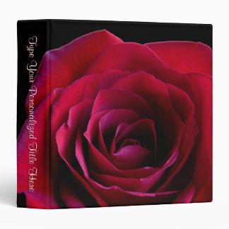 Rose Binder Personalized Red Rose Photo Album Vinyl Binders