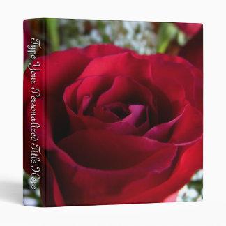 Rose Binder Personalized Red Rose Photo Album 3 Ring Binder