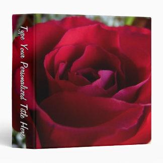 Rose Binder Personalized Red Rose Photo Album Vinyl Binder