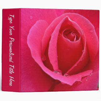 Rose Binder Personalized Red Rose Photo Albums Binders