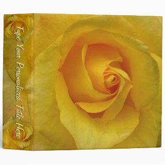 Rose Binder Personalized Yellow Rose Photo  Albu Binder