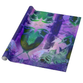 Rose Birds, Abstract Gift Wrapping Paper