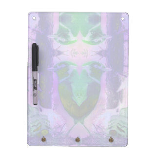 Rose Birds, Abstract Violet Pink Cycle Dry Erase White Board