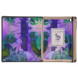 Rose Birds, Abstract Violet Pink Cycle iPad Cases