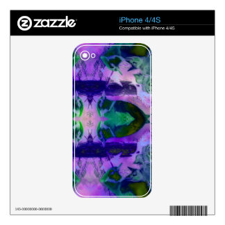 Rose Birds, Abstract Violet Pink Cycle iPhone 4 Skins