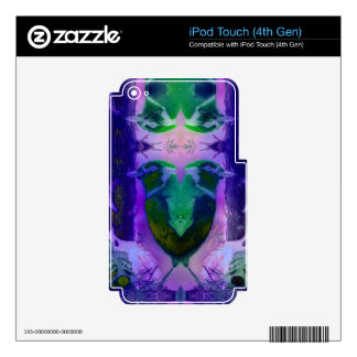 Rose Birds, Abstract Violet Pink Cycle iPod Touch 4G Skin
