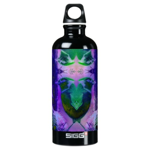 Rose Birds – Violet &amp&#x3B; Pink Cycle Aluminum Water Bottle