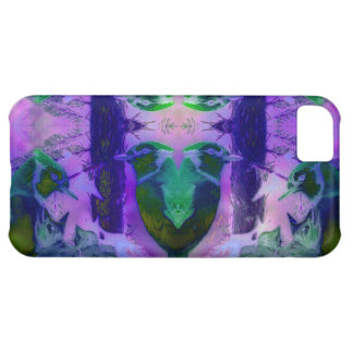 Rose Birds – Violet & Pink Cycle Case For iPhone 5C