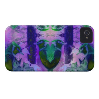 Rose Birds – Violet & Pink Cycle iPhone 4 Case-Mate Cases
