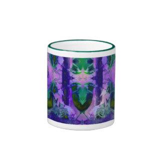 Rose Birds – Violet & Pink Cycle Coffee Mug