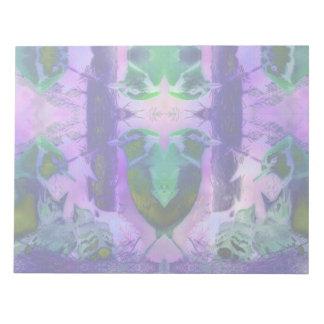 Rose Birds – Violet & Pink Cycle Memo Note Pad