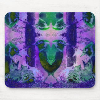 Rose Birds – Violet & Pink Cycle Mouse Pad