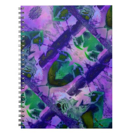 Rose Birds – Violet & Pink Cycle Notebook
