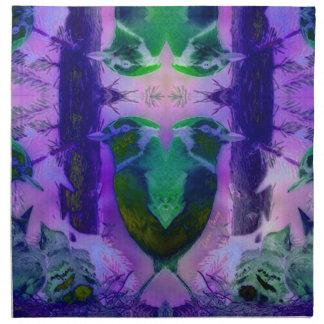 Rose Birds – Violet & Pink Cycle Printed Napkins
