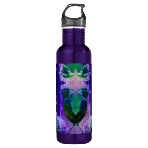 Rose Birds – Violet &amp&#x3B; Pink Cycle Stainless Steel Water Bottle